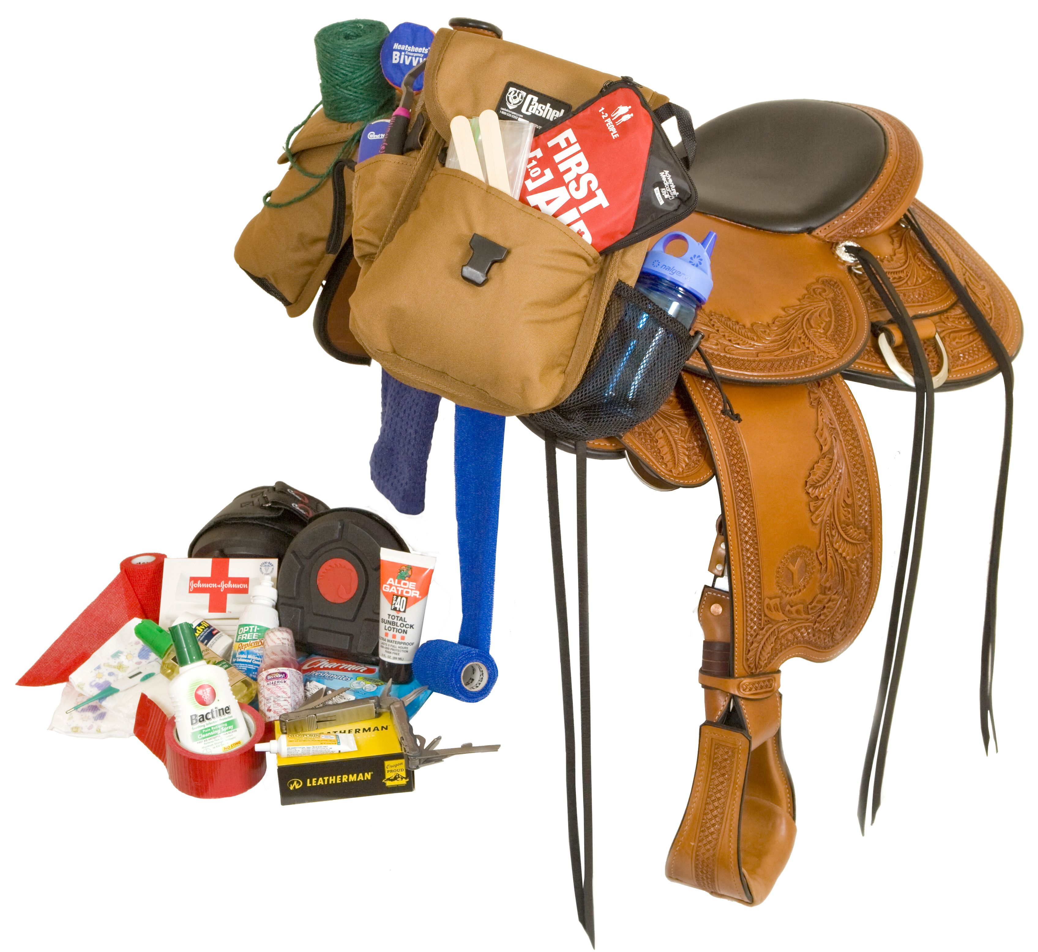 Excellent reference of items to carry/pack on horseback riding adventures