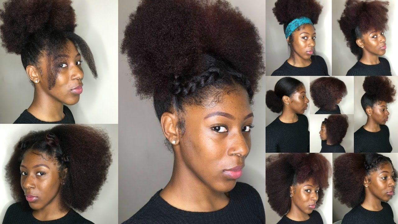 16 Natural Hairstyles For Black Women Short Medium Natural Hair