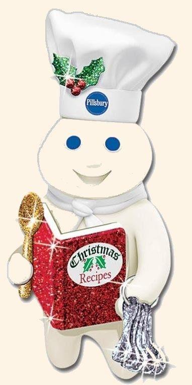 Poppin Fresh The Pillsbury Doughboy Considering Christmas Cookie