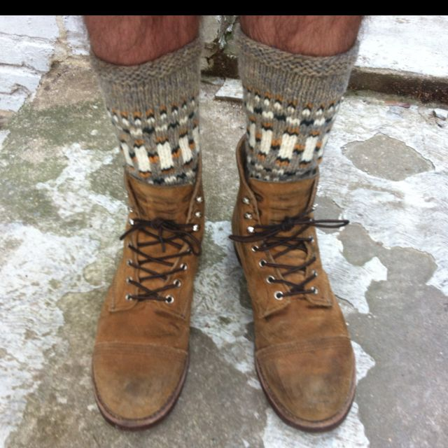 Red Wing Iron Rangers and wool socks.