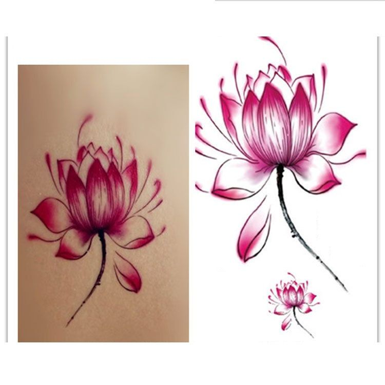flower tattoo etsy 3d waterproof temporary tattoos flower