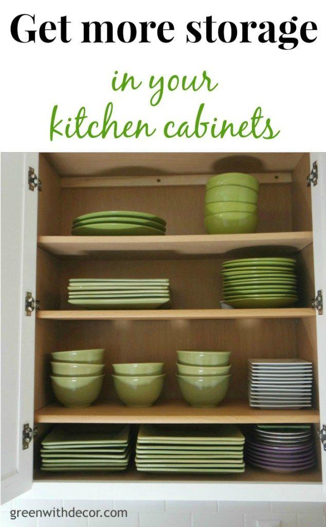 Get Extra Storage In The Kitchen Cabinets Green With Decor Kitchen Cabinets Kitchen Redo Farmhouse Kitchen Island