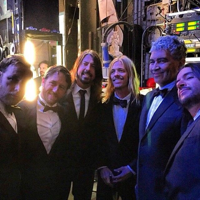Everyone's posting this so I am too, because fancy Foos make me happy. #foofighters #davegrohl #chrisshiflett #natemendel #patsmear #taylorhawkins #ramijaffee #thanksdave