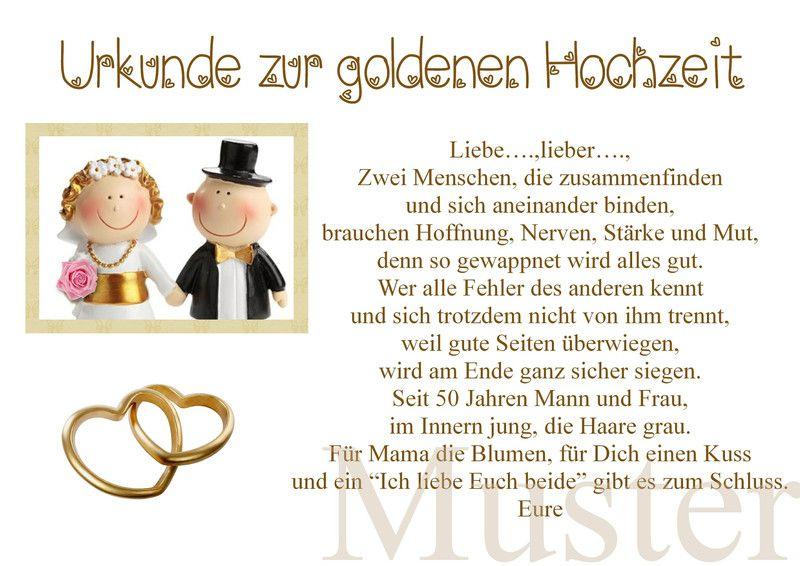 Urkunde Zur Goldene Hochzeit 50 Hochzeitstag A4 Goldene Hochzeit 50 Hochzeitstag Hochzeit