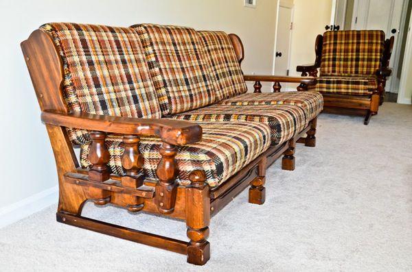 1970 S Sofa And Chairs Sofa Wood Frame Redo Furniture Furniture