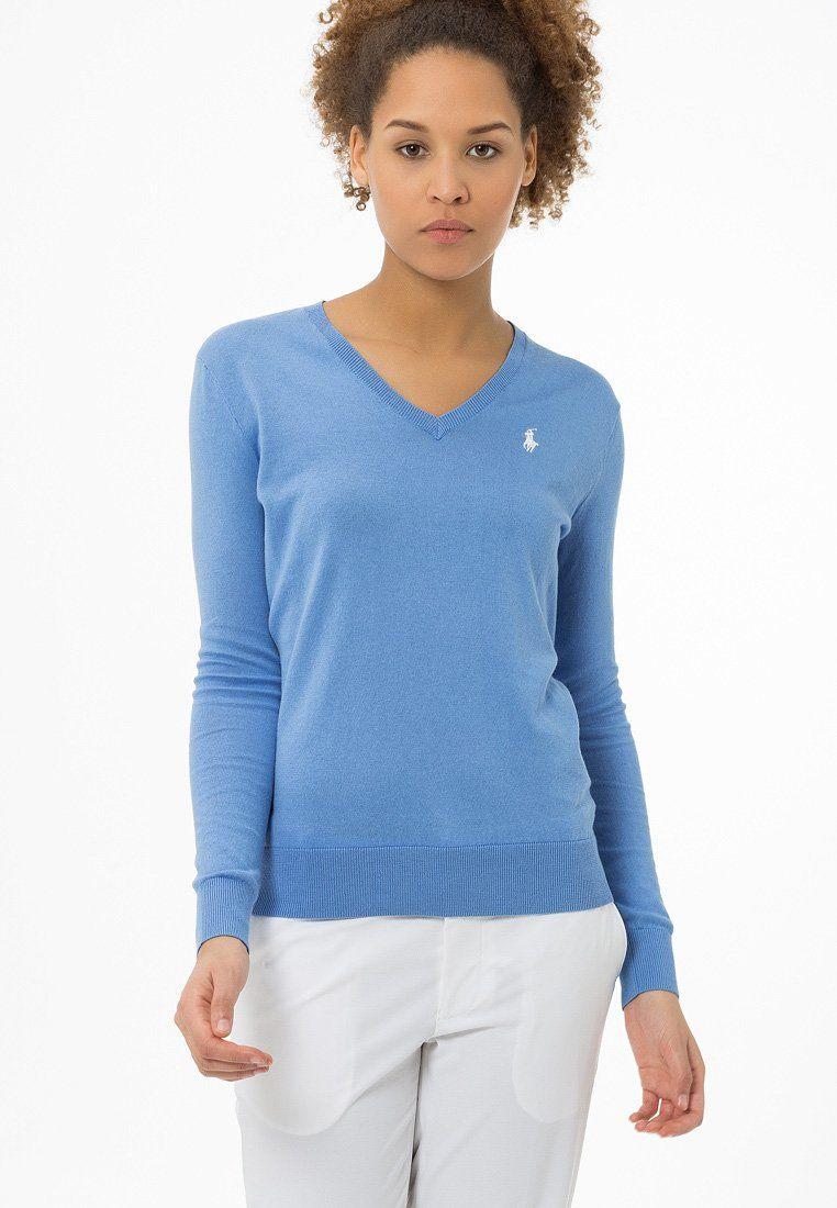Polo Ralph Lauren Golf PIMA Pullover gentry blue   À acheter   Polo