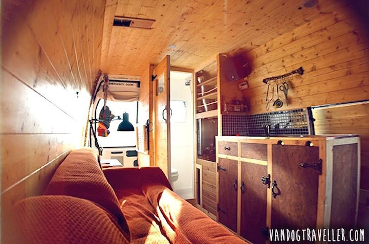 Man Quits Job to Convert Old Van into Mobile Home to Travel the World - My Modern Met
