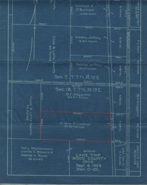 Vintage blueprint plat map survey lake township wood county ohio vintage blueprint plat map survey lake township wood county ohio c1923 malvernweather Images