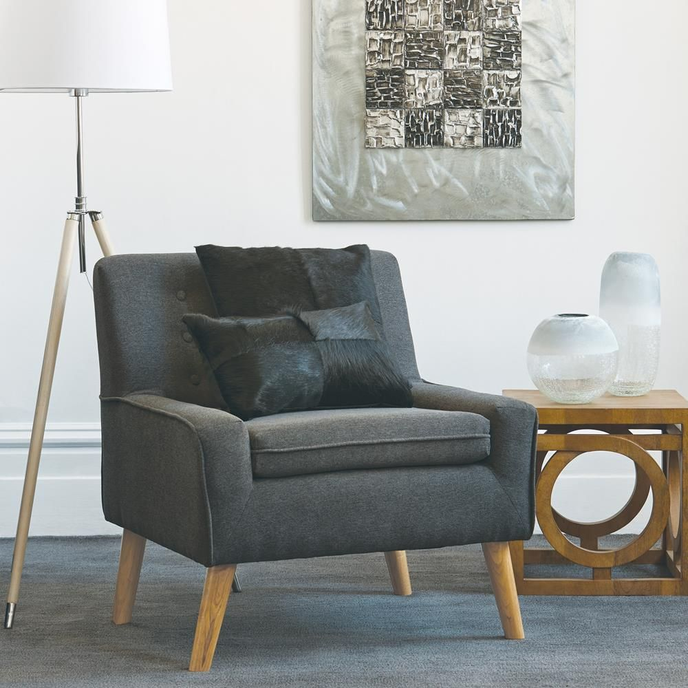 Atelier Nordic accent Fabric and wood lounge chair