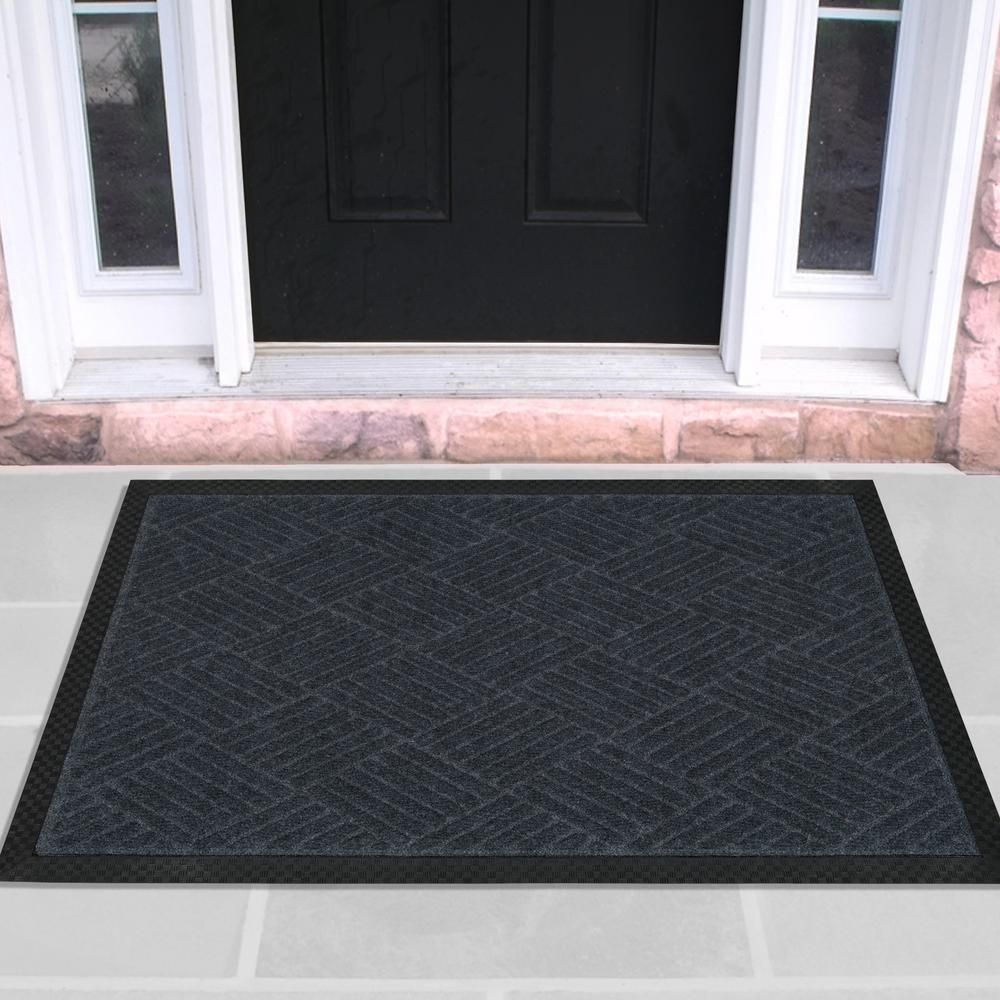 Best Ottomanson Charcoal 24 In X 36 In Ribbed Carpet Natural 400 x 300