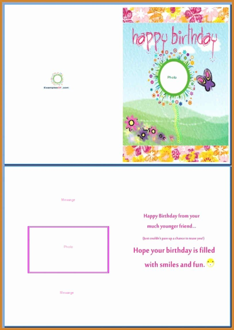 Birthday Card Template Word In 2020 With Images Birthday Card