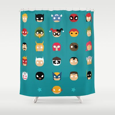Super Alphabet! Shower Curtain