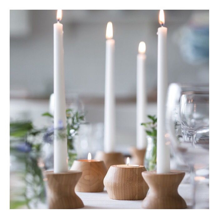 The Bambu Living candle holders can be brought at wwwrawearthstore - decoracion con bambu