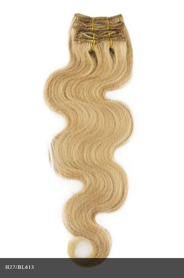 Clip 7 Piece Body Wave Wavy Clip In Essential 100 Remy Human Hair