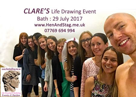 Clare's Model for the day Multi tasking here taking a selffie after their Life Drawing Event