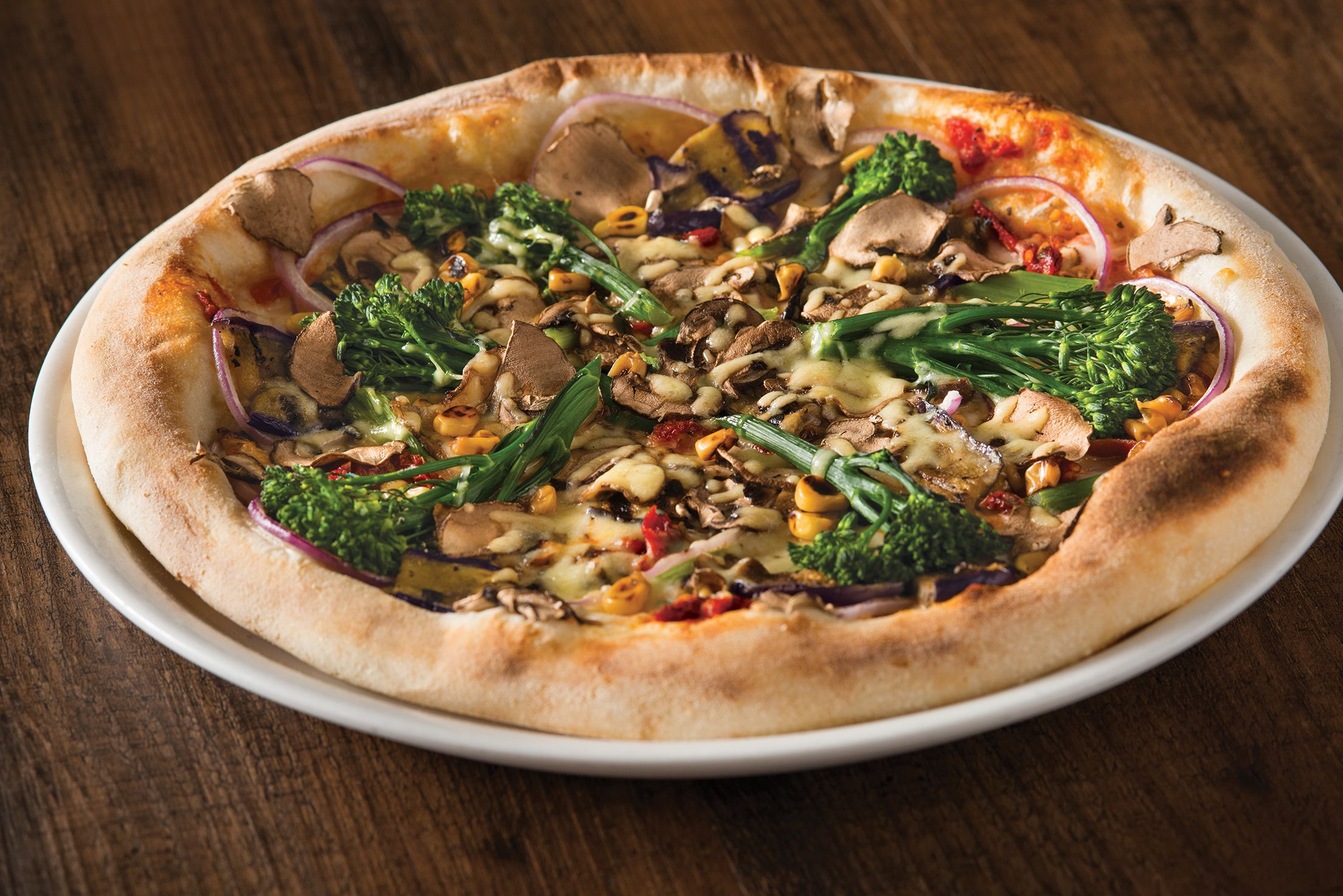 California Pizza Kitchen Pepperoni Pizza California Veggie Pizza On Its New Handtossed Dough  Cpk
