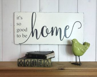 Vintage Wooden Signs Home Decor Glamorous It's So Good To Be Home Sign  Housewarming Gift  Rustic Wood Design Inspiration
