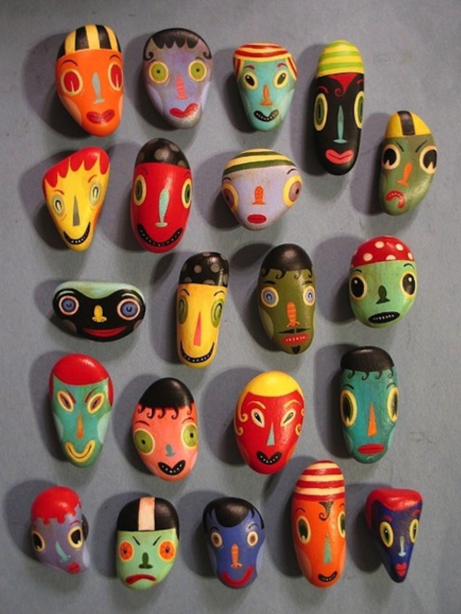 Stones Of A Stone Age Masks Homedecor Stone Painting