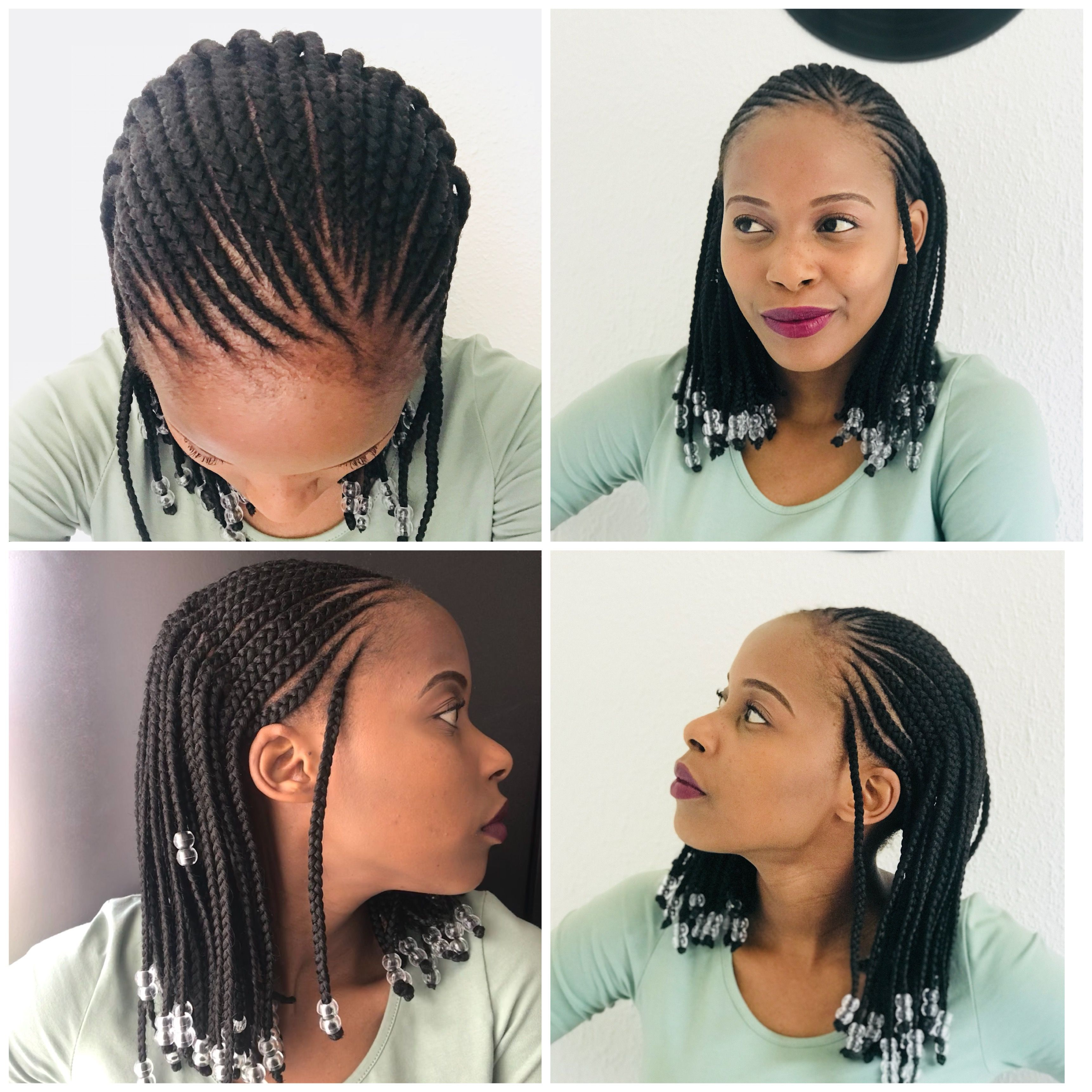 Alicia keys inspired cornrows and braids with beads