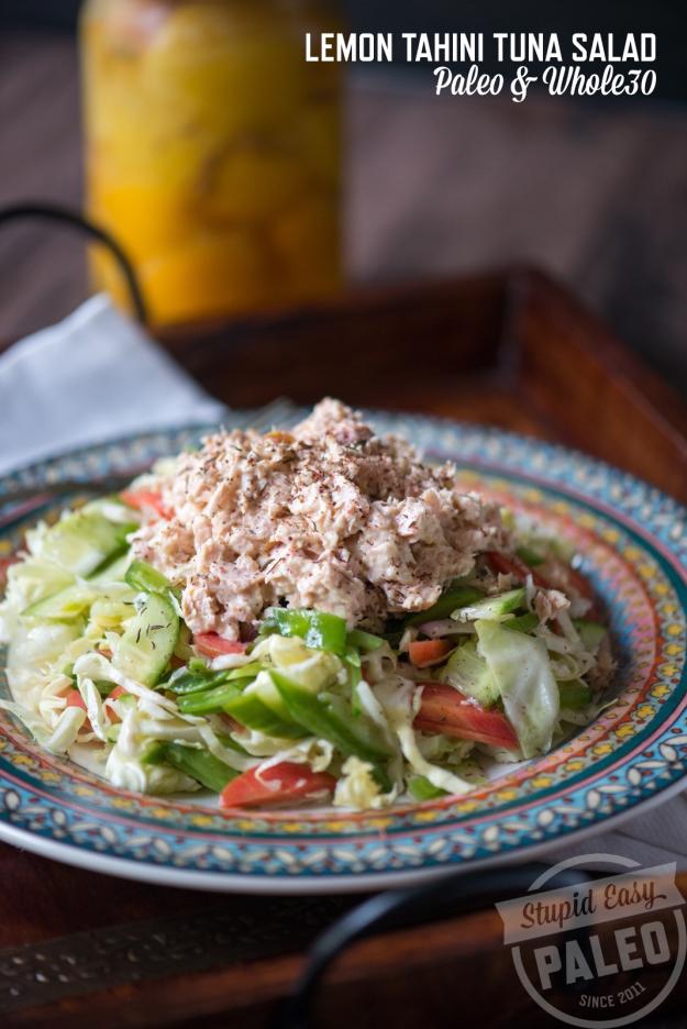 Lemon Tahini Tuna Salad Recipe |