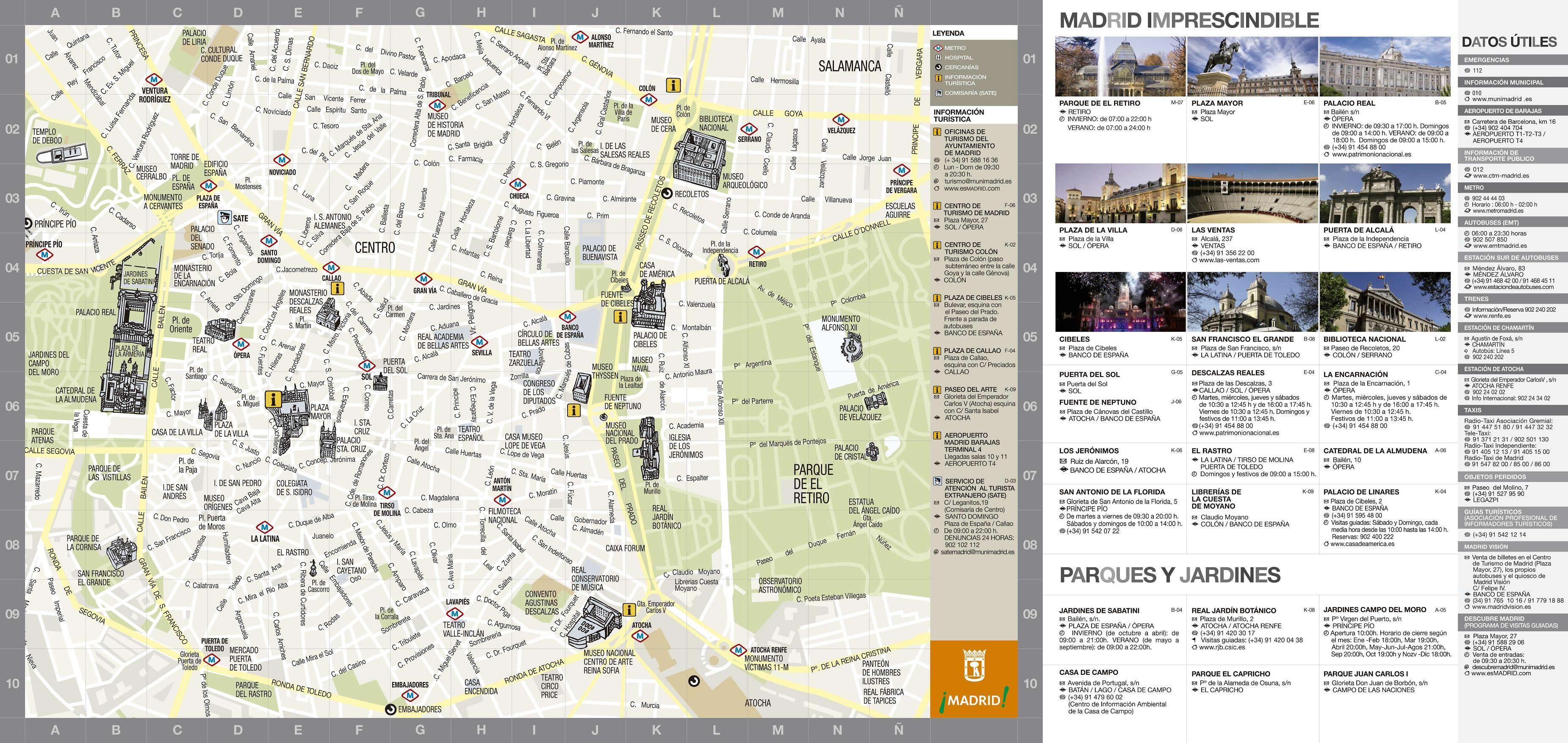Mapa turstico de Madrid 2009 La Ciudad Pinterest Madrid