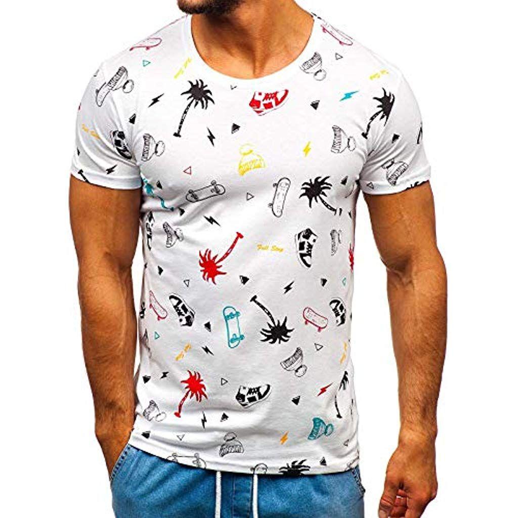 quality design df18b f660f BOLF Herren T-Shirt Kurzarm Rundhals Modern Motiv Aufdruck ...