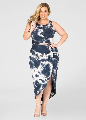 tie dye knot waist skirt! look and feel your best with quality