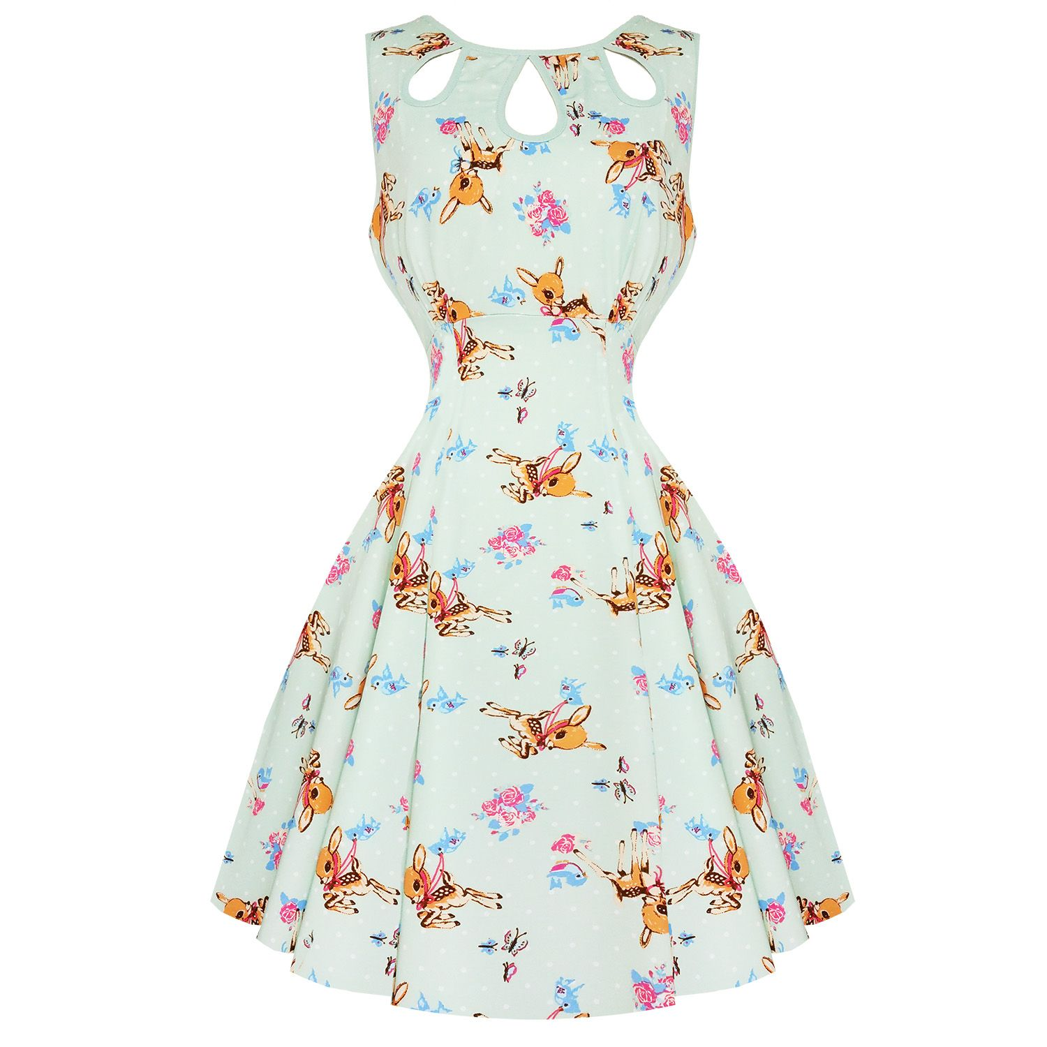 Dancing Days Whimsical 1950s Mini Dress Dresses Dancing
