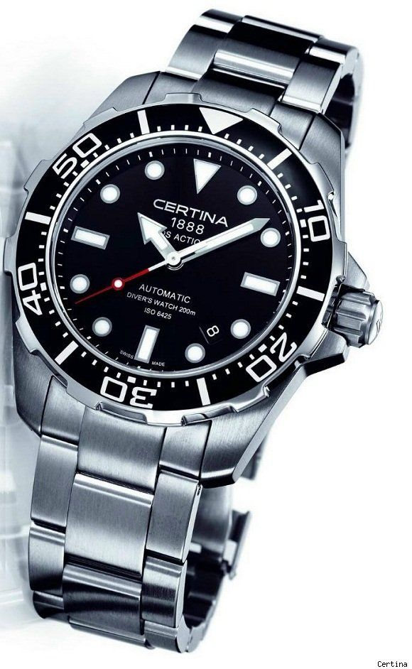Certina Ds Action Diver A Bold Reinterpretation Of The Classic Rolex Submariner Design With Large Beze Luxury Watches For Men Certina Watches Watches For Men