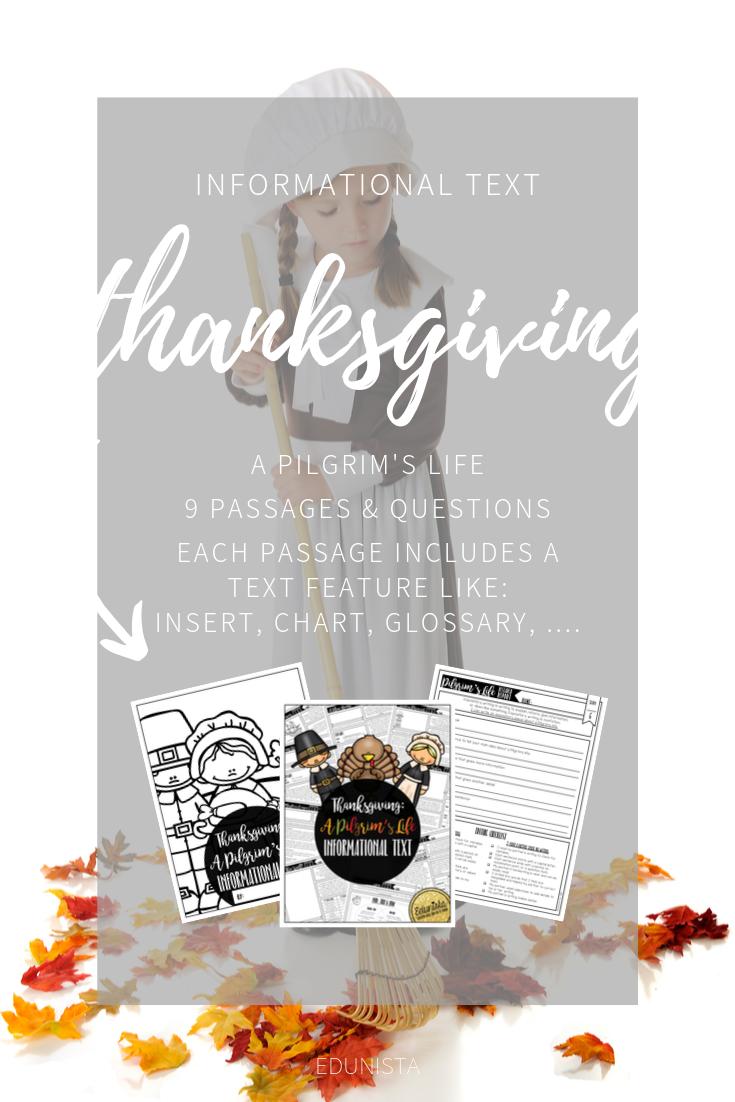 Informational Text Thanksgiving Pilgrim Reading Comprehension Passages Reading Comprehension Informational Text Reading Comprehension Worksheets [ 1102 x 735 Pixel ]