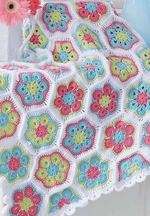 Crochet Colorful Baby Blankets to Brighten a Baby\'s Nursery ...