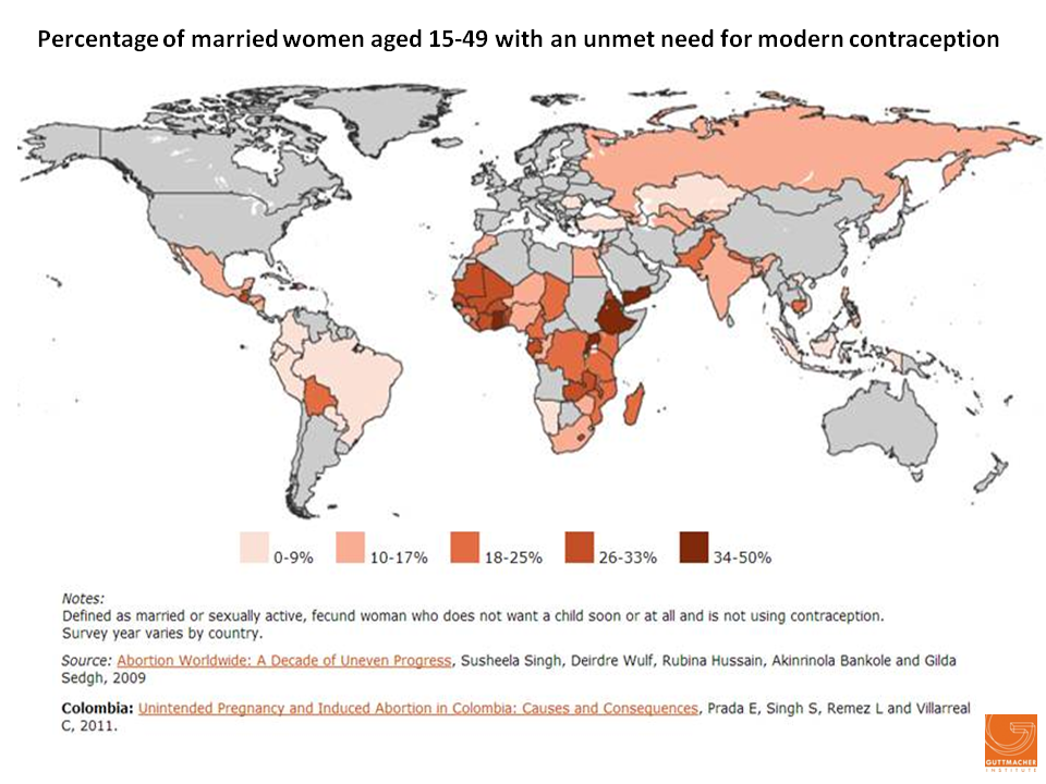 This map shows that many women worldwide still need help