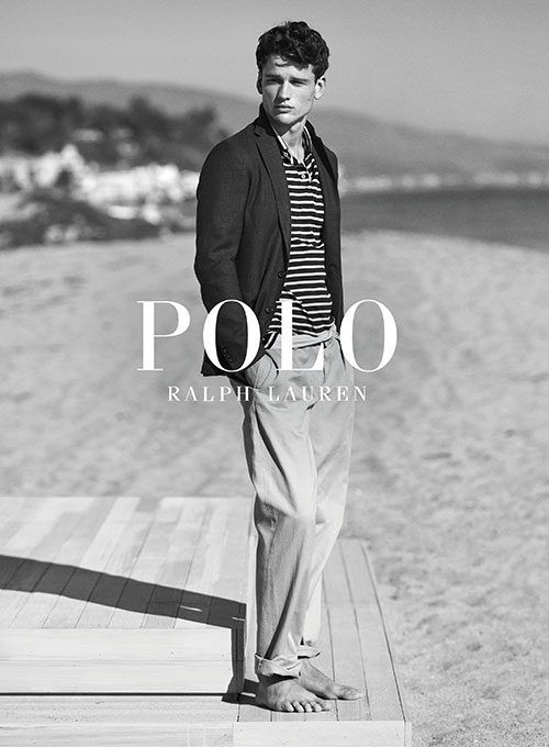 c4b0ca334c2a8 Simon Nessman shot in Malibu by Josh Olins for the Polo Ralph Lauren Spring  2017 Campaign
