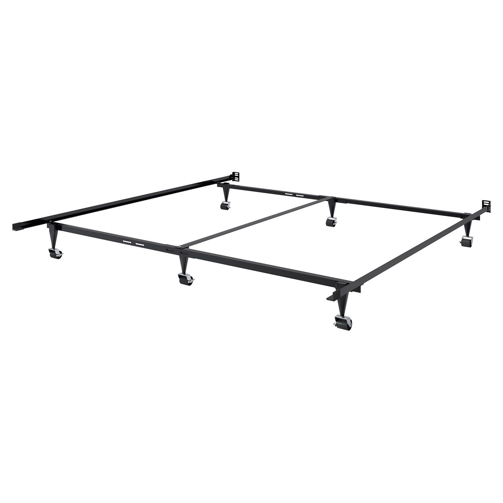 Corliving Adjustable Metal Bed Frame Size Queen King Metal Bed