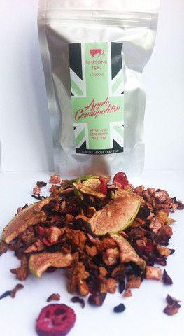 APPLE COSMOPOLITAN   loose leaf apple and cranberry fruit tea   Simpsons Tea