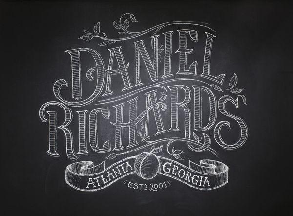Daniel Richards Chalk Lettering by Chris Yoon