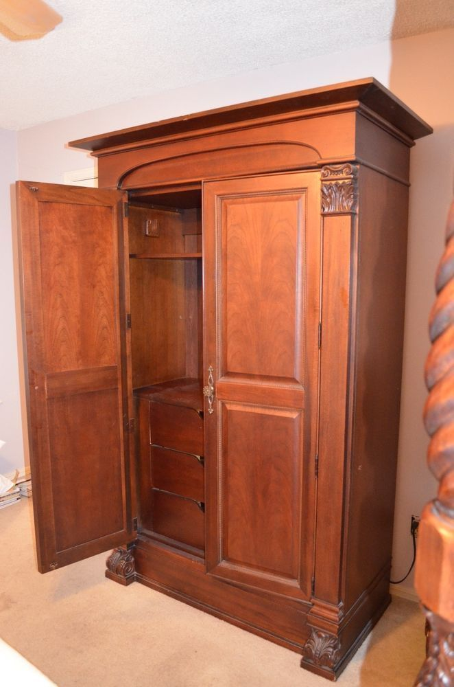 Thomasville Furniture Bedroom Armoire/Wardrobe/TV Cabinet #Thomasville  #BedroomArmoireWardrobe #BedroomArmoires Wardrobe