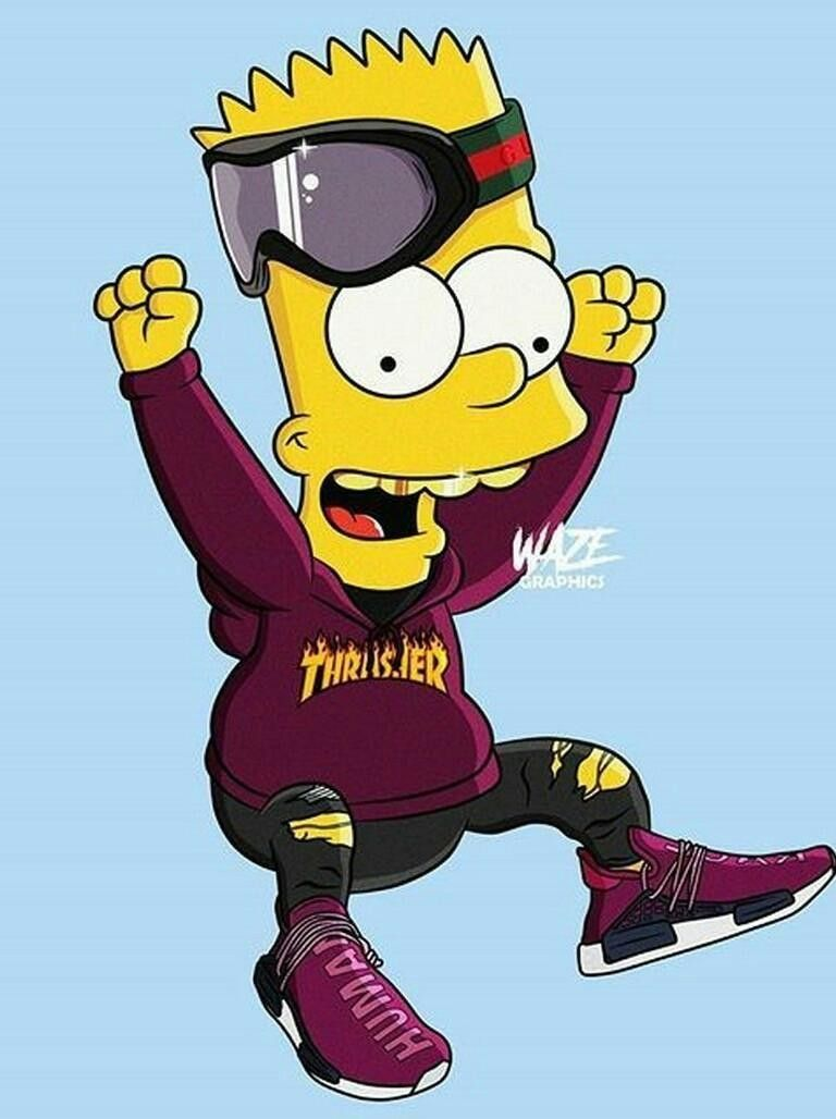 Why Bart Looking Fresh Lmao Bart Simpson Art Simpson Wallpaper Iphone Supreme Wallpaper