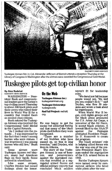 article about the tuskegee airmen register star newspaper article  article about the tuskegee airmen register star newspaper article 30 2007