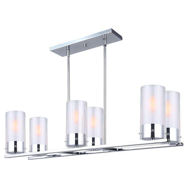 Canarm Pendant Light 6 Lights Lilou Chrome Rona