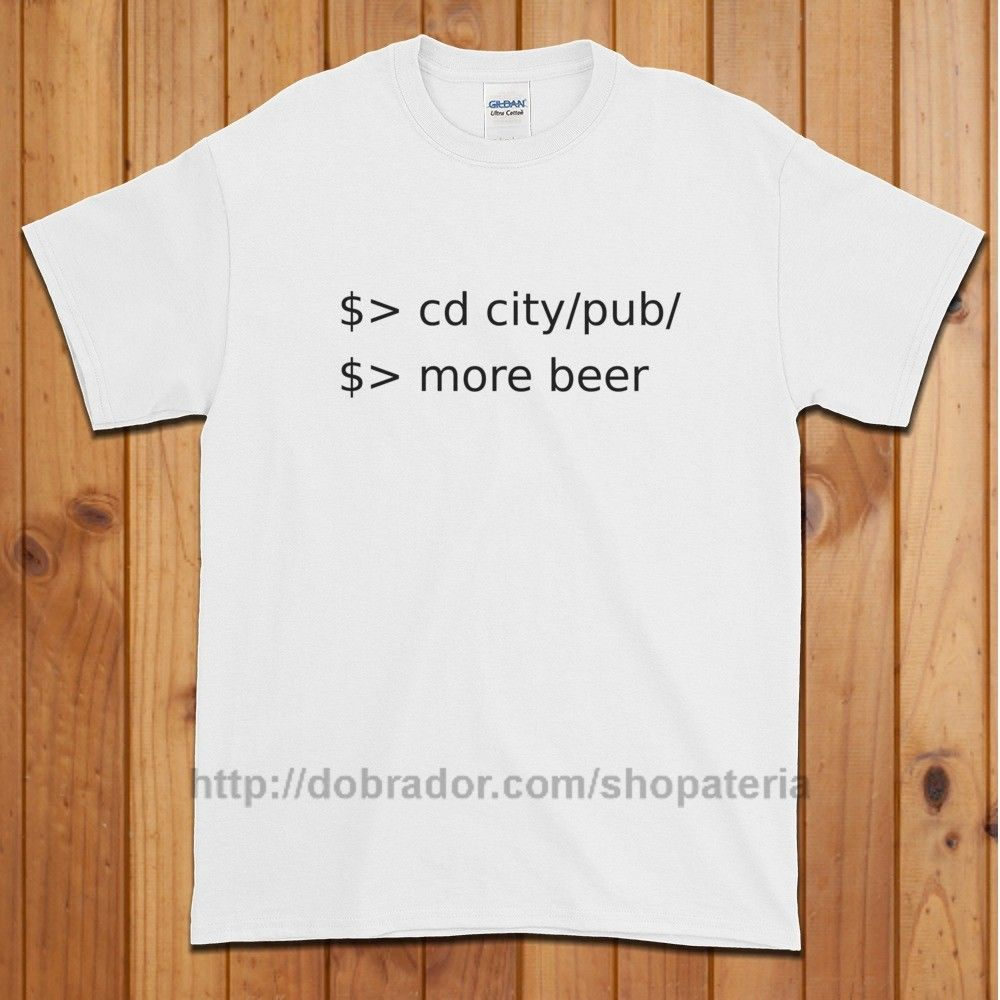 Linux go to pub order beer tshirt unisex with images