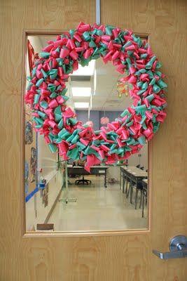 Easy christmas decorations make classroom