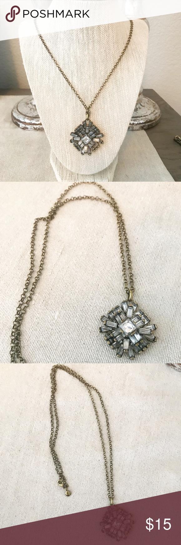 J crew pendant necklace vintage gold my posh picks pinterest