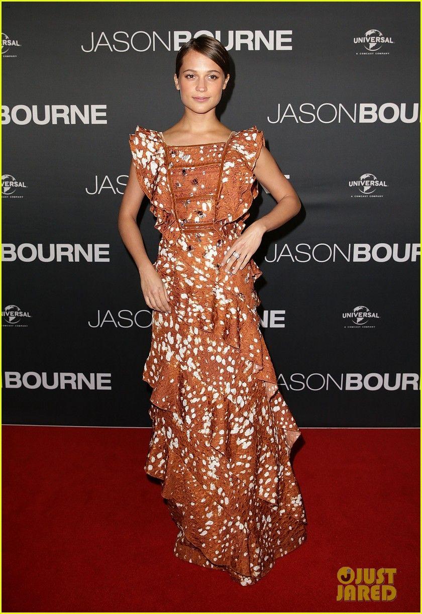 Matt Damon & Alicia Vikander Bring 'Jason Bourne' to Sydney: Photo #3697755. Matt Damon suits up for the big premiere of his new film Jason Bourne held at Hoyts Entertainment Quarter on Sunday (July 3) in Sydney, Australia.    The 45-year-old…
