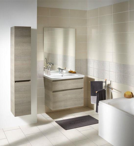 """Meuble """"ATTITUDE"""" décor bois 80 CM Salle de bain"""