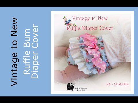Ruffle Diaper Cover Pattern Tutorial - YouTube | Sewleou | Pinterest ...