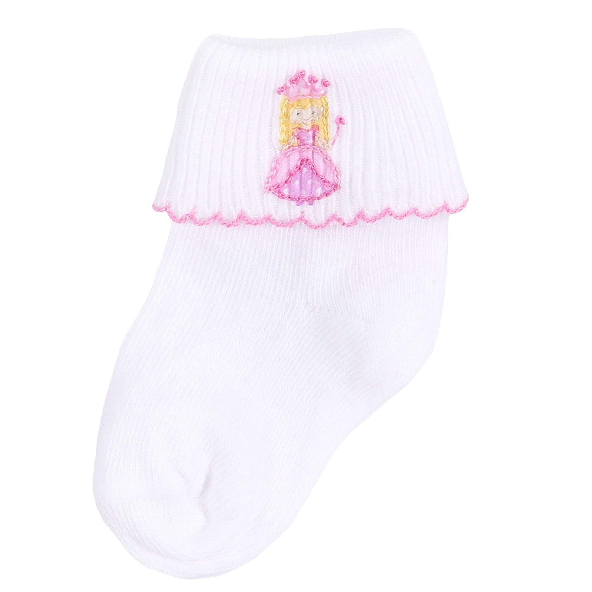 Magnolia Baby Lovely Princess Embroidered Sock