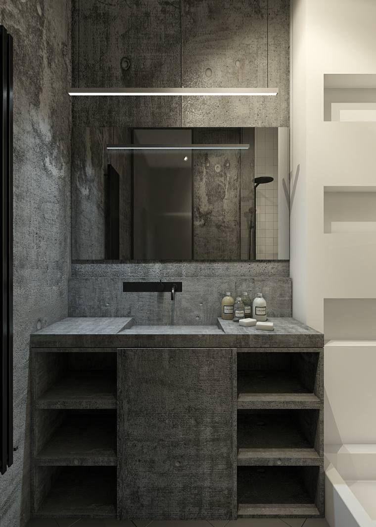 salle de bain en bton cir pour un amnagement tendance - Salle De Bain Beton Cire