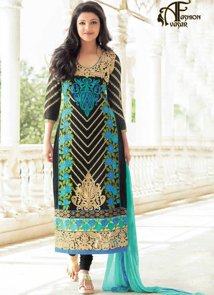 Kajal Agarwal Salwar Kameez Shopping With Images Party Wear Indian Dresses Designer Dresses Online Designer Suits