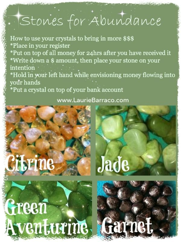 I have to wonder if These crystals really do help bring in abundance.